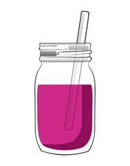 Illustration of doodle smoothie jar