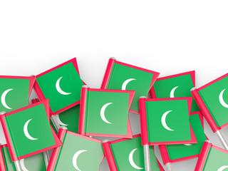 Flag pin of maldives