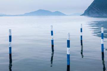 Forme e riflessi sul lago di Iseo