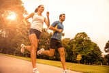 Fototapety Jogging together - sport young couple