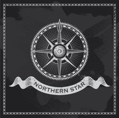 Wind Rose - nautical vector compass design