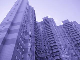 голубой,архитектура,цвет,дом,многоэтажный,красота,окна,стена