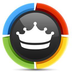 Crown king icon