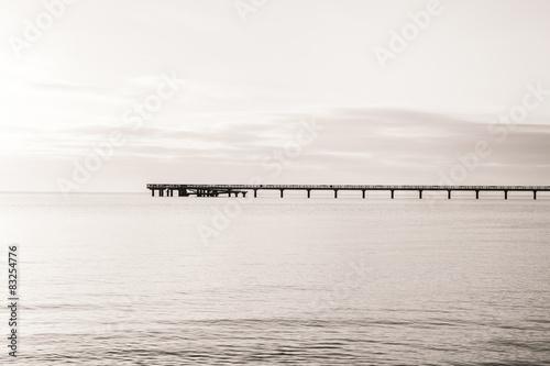 Panel Szklany Steg am Ufer
