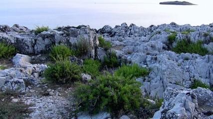 Jagged coastline