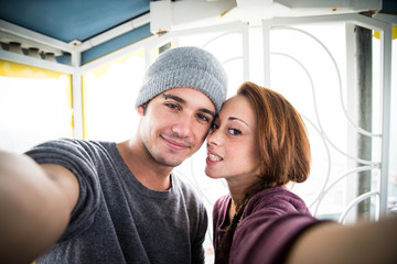 couple in love take a selfie - lifestyle moment
