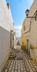 Picturesque small narrow street