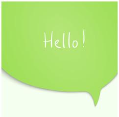 Speech Bubble in green color.