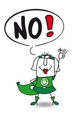 No super recycling woman