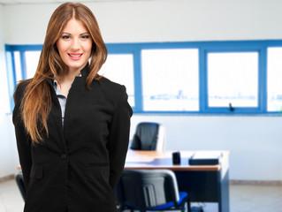 Businesswoman portrait in her office