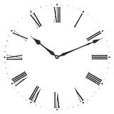 Roman numeral clock.