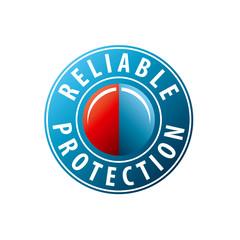 vector logo button to invoke protection