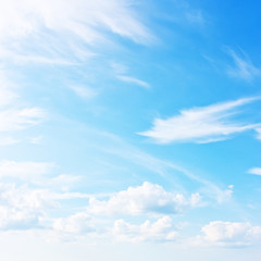 Blue sky abstract natural background