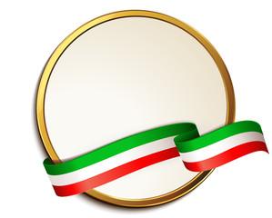 Schild mit Banderole - Italien