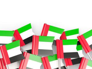 Flag pin of united arab emirates
