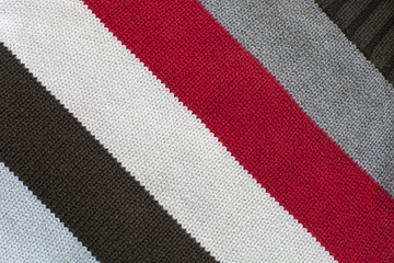 texture of knitted fabric with stripes