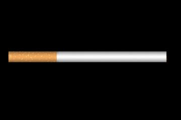 Illustration of cigarette on black background