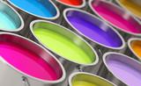 Fototapety Paint buckets - shallow depth of field