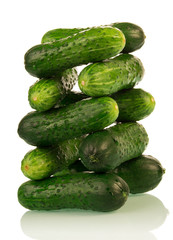 Cucumbers stack tower