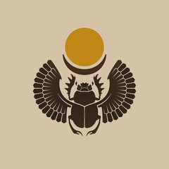 Egyptian Scarab / Vector illustration