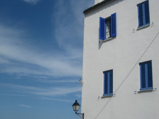 Detail of a house in Cadaqués, Catalonia