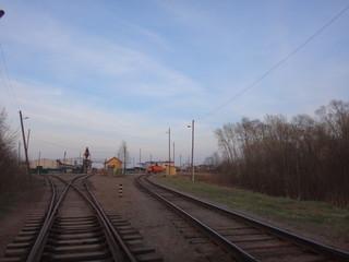 Железная дорога ранней весной
