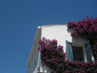 Detail of a house in Portlligat, Catalonia