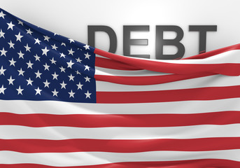 United States national debt and budget deficit financial crisis