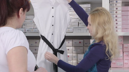 clothes for pregnant nursing mothers in baby maternity shop