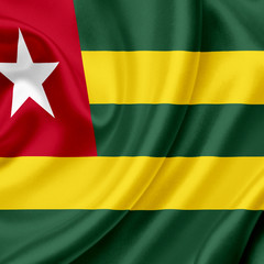 Togo waving flag