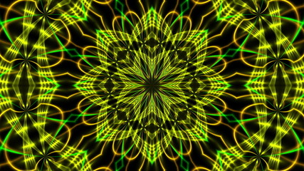 abstract background, kaleidoscope light, loop