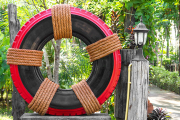 Tire Garden Decor