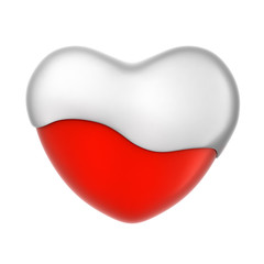 Creamy Heart Icon, 3D Illustration of High Resolution Rendering