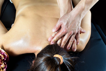 Close-up of Person Receiving  massage