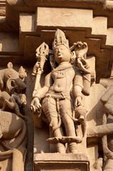 Stone carved erotic sculptures on JainTemples. Khajuraho