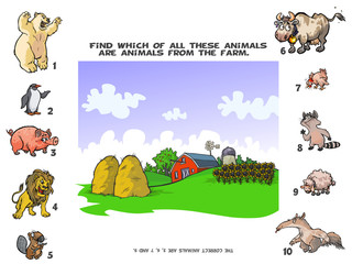 Funny Quiz about the Farm Animals.