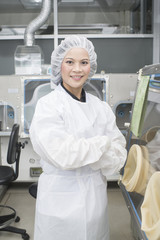 pharmacist chemist woman  standing in pharmacy lab