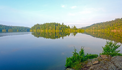 Morning Calm on a Wilderness lake