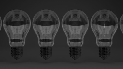 Some Electric Bulbs On Black Background