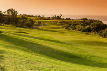 Beautiful View of Green Golf Field