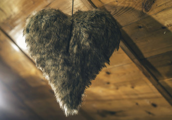 Heart shape made of leather