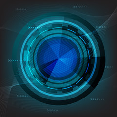 abstract technology background vector design
