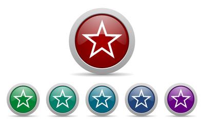 star vector web icons set