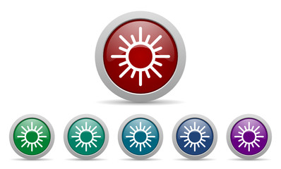 sun vector web icons set