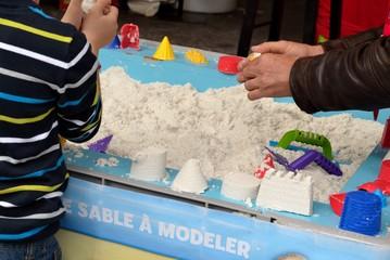 Fabrication de châteaux de sable