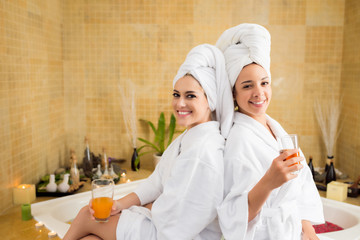 Spa day with best friend