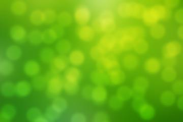 Abstract circular green bokeh background