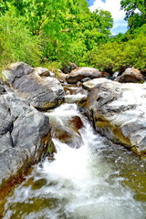 Small waterfall located in Nan River Forest
