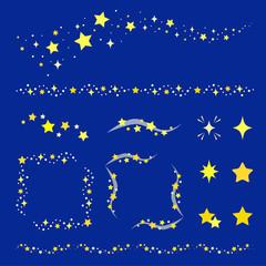 星の装飾セット / vector eps 10