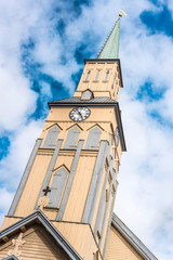 The Tromso Cathedral in Norway.